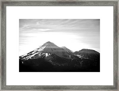 Shasta Glory Framed Print by Daniel Morgan