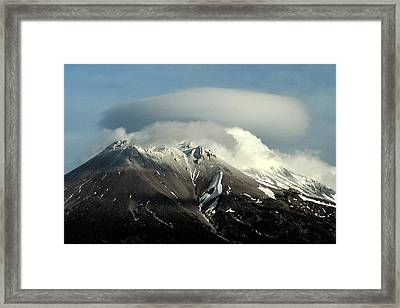 Framed Print featuring the digital art Shasta Lenticular 2 by Holly Ethan