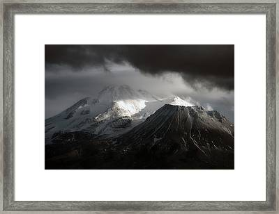 Shasta Mood Framed Print by Holly Ethan