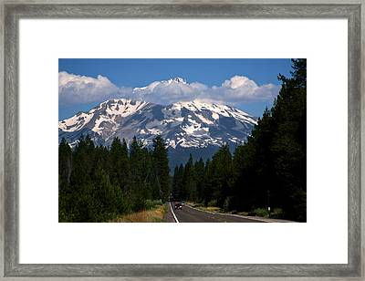 Shasta On The Road Again Framed Print by BuffaloWorks Photography