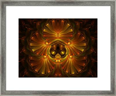 Shattered Five Leaf Clover Abstract Framed Print by Georgiana Romanovna