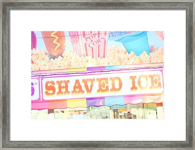 Shaved Ice Framed Print by Amy Tyler
