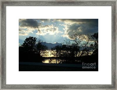 Shawnee Mission Park Sunset  Framed Print