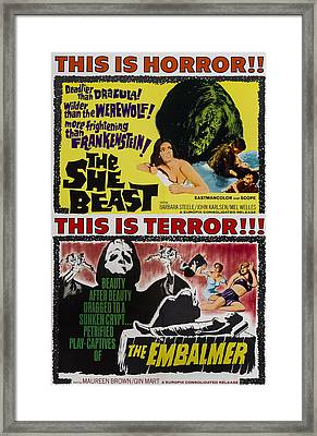 She-beast, On A Double Bill Poster Framed Print