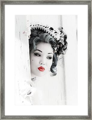 She Doesn't Know I Exist Framed Print