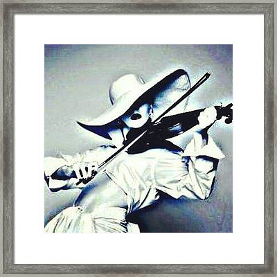 She Is Killing It! #blackandwhite Framed Print