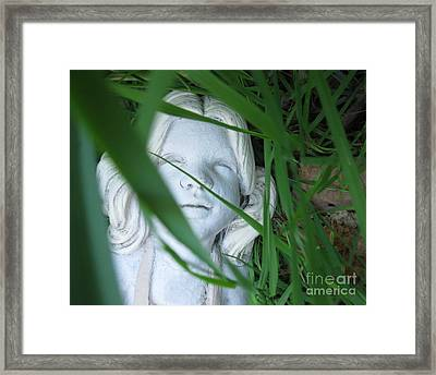 Framed Print featuring the photograph She Is There by Amy Sorrell