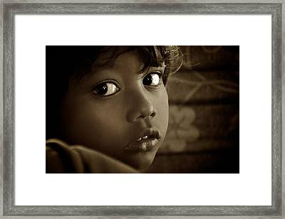 She Just Stared Framed Print by Valerie Rosen