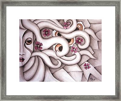 She Listened At Last Framed Print by Simona  Mereu
