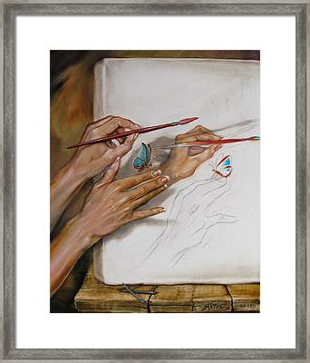 She Paints Framed Print by Martin Katon