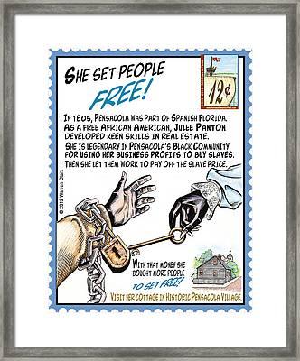 She Set People Free Framed Print by Warren Clark