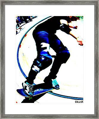 She Slides Framed Print by Douglas Kriezel