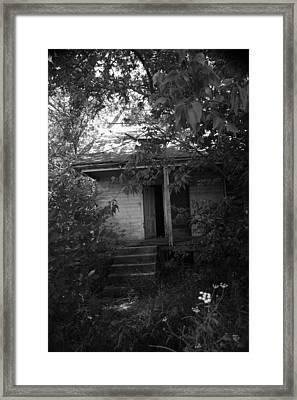 She Walked Here Framed Print by Nina Fosdick
