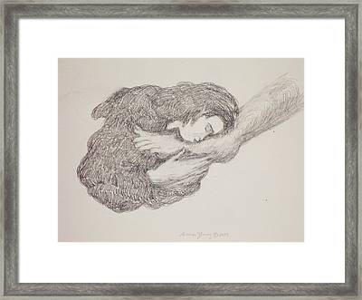 She Wiped His Feet With Her Hair Framed Print by Bruce Zboray