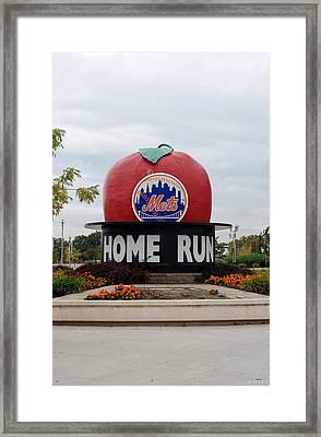 Shea Stadium Home Run Apple Framed Print