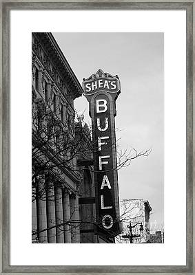 Sheas's Buffalo Framed Print