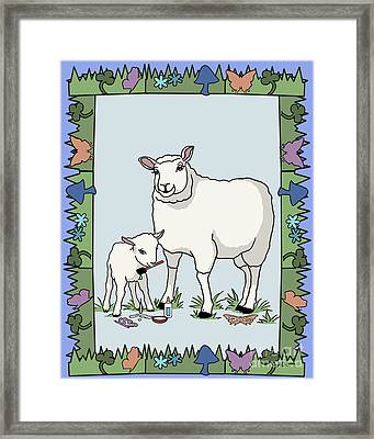 Sheep Artist Sheep Art Framed Print by Audra D Lemke