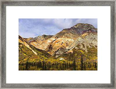 Sheep Mountain Along Glenn Highway Framed Print by Yves Marcoux