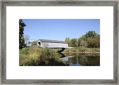 Sheffield Covered Bridge Framed Print
