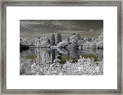 Sheffield Park Gardens Lake - Infrared Photography Framed Print