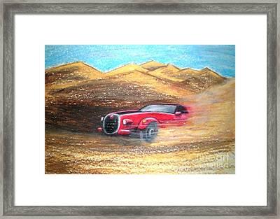 Sheikhs Dirt Racer Framed Print by C Ballal