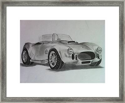 Shelby Cobra Framed Print by Aaron Mayfield