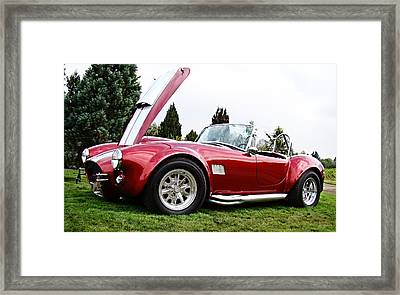 Framed Print featuring the photograph Shelby Cobra by Nick Kloepping