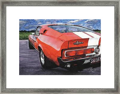 Shelby Gt500 Framed Print by Rod Seel