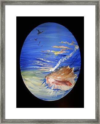 Shell 1 Framed Print by Diane Peters