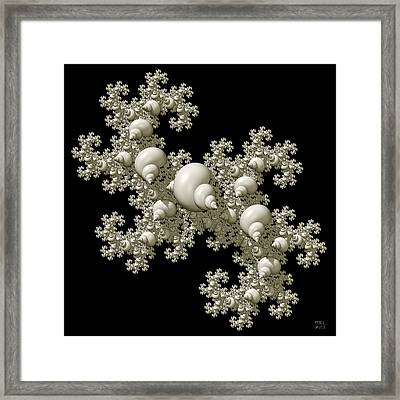 Shell Dragon Fractal Form Framed Print