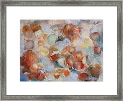 Shell Impression I Framed Print by Susan Hanlon