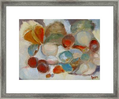 Shell Impression IIi Framed Print by Susan Hanlon