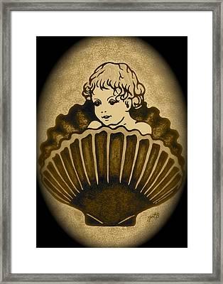 Shell With Child 2 Framed Print by Georgeta  Blanaru
