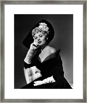 Shelley Winters, 1949 Framed Print by Everett