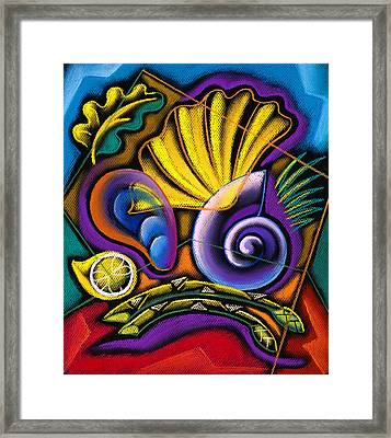 Shellfish Framed Print by Leon Zernitsky