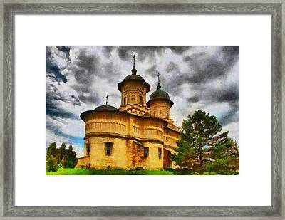 Shelter From The Coming Storm Framed Print