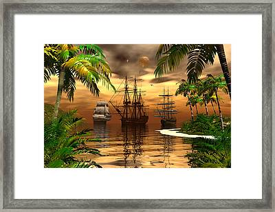 Shelter Harbor Framed Print by Claude McCoy