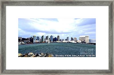 Shelter Island Ca View Framed Print by RJ Aguilar
