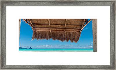 Framed Print featuring the photograph Shelter On Beach by Hans Engbers