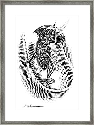 Sheltering Insect, Conceptual Artwork Framed Print by Bill Sanderson