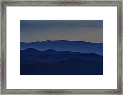 Shenandoah Dusk Framed Print by Rick Berk