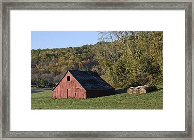 Shenandoah Farm Scene - Virginia Framed Print by Brendan Reals