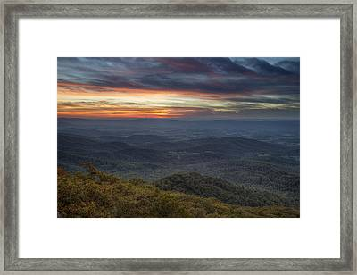 Shenandoah Sunset Framed Print by Pierre Leclerc Photography