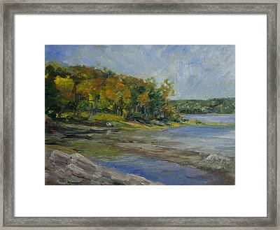 Shenipsit Light September Framed Print
