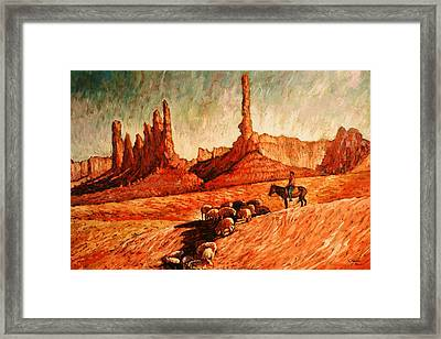 Framed Print featuring the painting Sheppard by Charles Munn