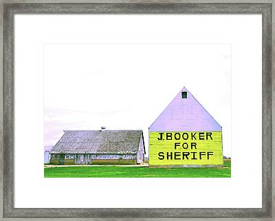 Sheriff Booker And Take Her Away Framed Print by Daniel Ness