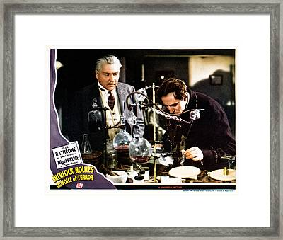 Sherlock Holmes And The Voice Of Framed Print by Everett