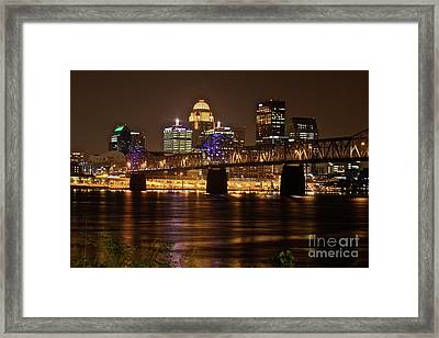 Sherman Minton Bridge Framed Print by Joe Finney