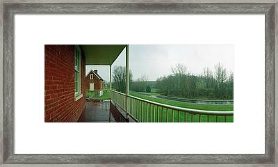 Sherrick House Framed Print by Jan W Faul