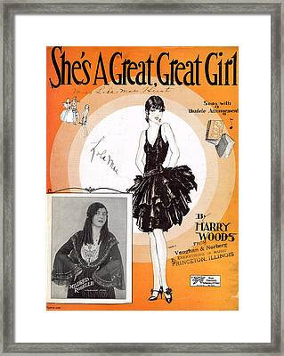 She's A Great Great Girl 2 Framed Print